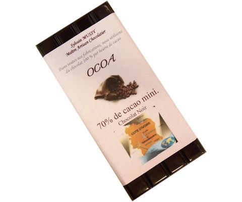 Tablette 100 g ocoa, 70 % de cacao minimum